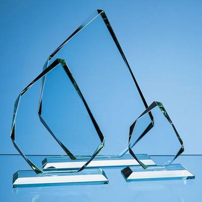 JADE GLASS FACETTED ICE PEAK AWARD.