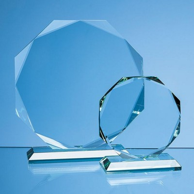 JADE GLASS FACETTED OCTAGON AWARD.