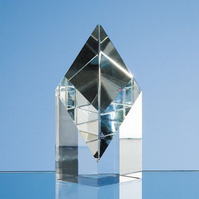 10CM OPTICAL CRYSTAL SLOPING DIAMOND.