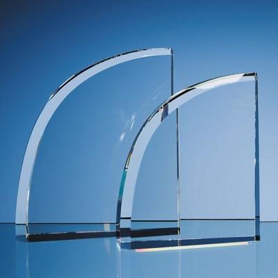 OPTICAL CRYSTAL GLASS FACET CURVE AWARD.