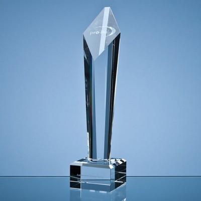 29CM OPTICAL CRYSTAL DIAMOND COLUMN AWARD.