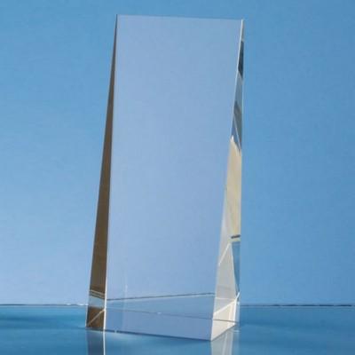 OPTICAL CRYSTAL WEDGE RECTANGULAR GLASS AWARD.