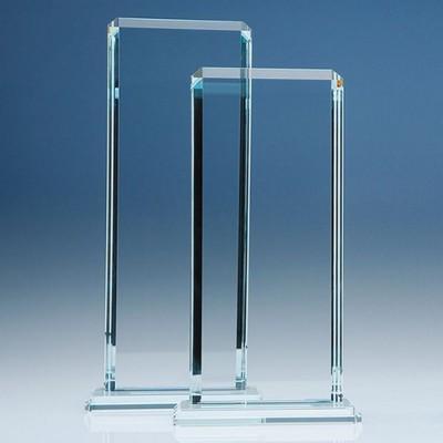 CLEAR TRANSPARENT GLASS ECHO AWARD.