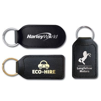 ECONOMY BONDED LEATHER KEYRING.