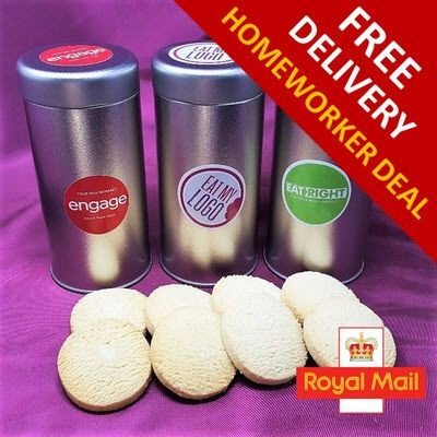 HOMEWORKER OFFER - TIN OF BISCUIT.