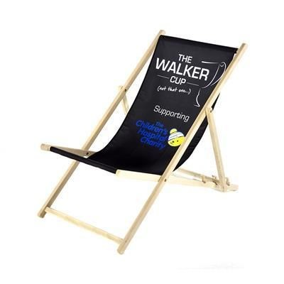 CUSTOM PRINTED DECK CHAIR.
