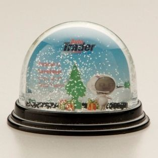 CLASSIC OVAL SNOW GLOBE SHAKER SNOW DOME SHAKER PAPERWEIGHT.