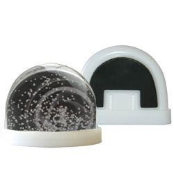 PROMOTIONAL SNOW GLOBE SHAKER FRIDGE MAGNET.