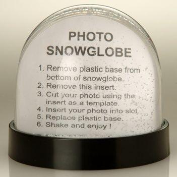PHOTOGLOBE SNOW GLOBE SHAKER SNOW DOME SHAKER PAPERWEIGHT.
