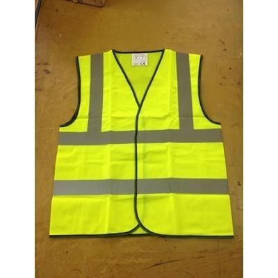 HIGH VISIBILITY REFLECTIVE VEST WAISTCOAT.