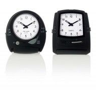 ELECTRONIC SETTING ALARM CLOCK in Black.