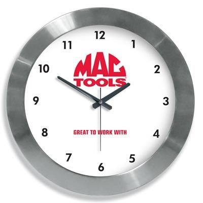 SYDNEY 42CM STAINLESS STEEL METAL WALL CLOCK.