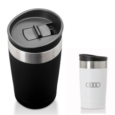 ARUSHA STAINLESS STEEL METAL THERMAL INSULATED TRAVEL CUP MUG 350ML.