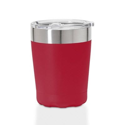 OYSTER STAINLESS STEEL METAL THERMAL INSULATED TRAVEL MUG.