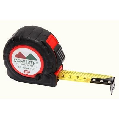 TT5 TAPE MEASURE in Black with Red Trim.