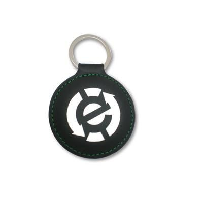 HIGH QUALITY LEATHERETTE KEYRING.