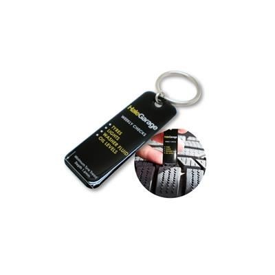 USEFUL TYRE GAUGE KEYRING.