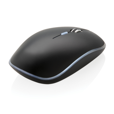 LIGHT UP LOGO CORDLESS MOUSE in Black.