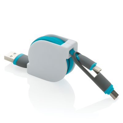 3-IN-1 RETRACTABLE CABLE in Blue.