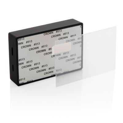 TEMPERED GLASS 3W CORDLESS SPEAKER in Black.