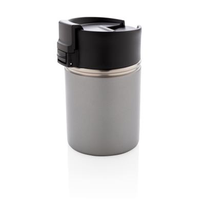BOGOTA VACUUM COFFEE MUG with CERAMIC POTTERY COATING in Grey.