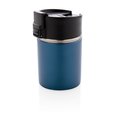 BOGOTA COMPACT VACUUM MUG with CERAMIC POTTERY COATING in Blue.