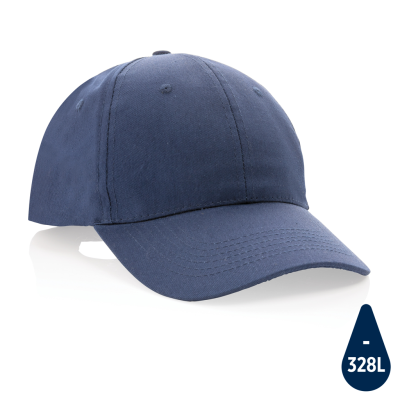 MPACT 6 PANEL 190GR RECYCLED COTTON CAP with Aware™ Tracer in Navy.