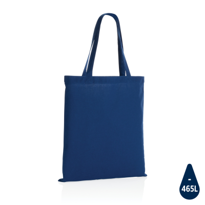 IMPACT AWARE™ RECYCLED COTTON TOTE 145G in Blue.