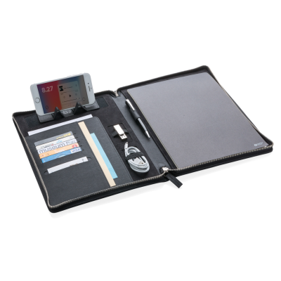 SWISS PEAK HERITAGE A4 PORTFOLIO with Zipper in Black.