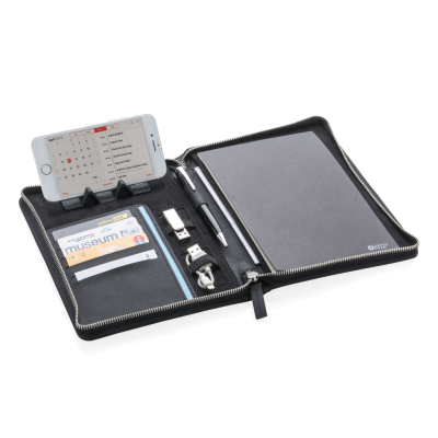 SWISS PEAK HERITAGE A5 PORTFOLIO with Zipper in Black.