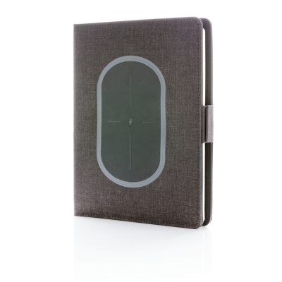 AIR 5W CORDLESS CHARGER NOTE BOOK COVER A5 in Black.