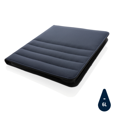 IMPACT AWARE™ RPET A4 PORTFOLIO with Zipper in Navy.