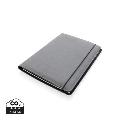 BONDED LEATHER PORTFOLIO A4 in Grey.
