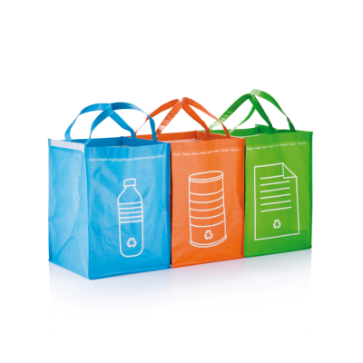 3PCS RECYCLE WASTE BAGS in Green.