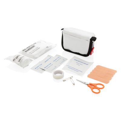 FIRST AID KIT in White Pouch.