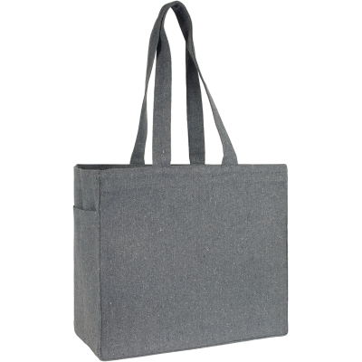 IVYCHURCH RECYCLED TOTE SHOPPER TOTE BAG in Grey.