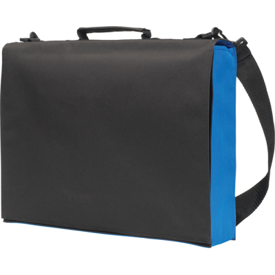 KNOWLTON DELEGATE BAG in Black & Royal.