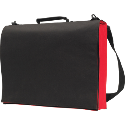 KNOWLTON DELEGATE BAG in Black & Red.