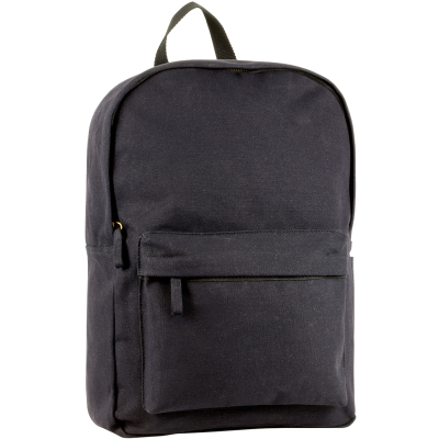 ECO-NATURAL HARBLEDOWN CANVAS BUSINESS BACKPACK RUCKSACK in Black.