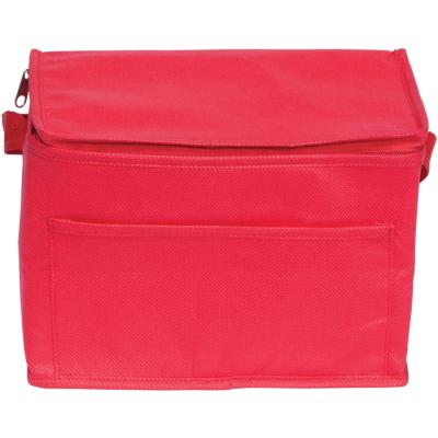 RAINHAM 6 CAN COOLER BAG in Red.