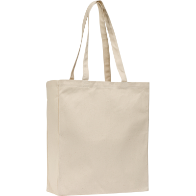 ALLINGTON 12OZ COTTON CANVAS SHOPPER TOTE BAG in Natural.