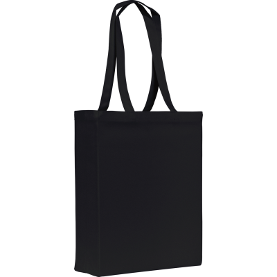 GROOMBRIDGE 10OZ COTTON CANVAS SHOPPER TOTE BAG in Black.