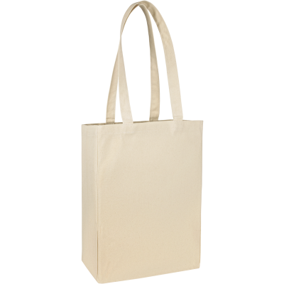 GROOMBRIDGE 10OZ COTTON CANVAS SHOPPER TOTE BAG in Natural.