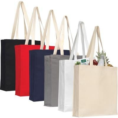 AYLESHAM 8OZ COTTON CANVAS SHOPPER TOTE BAG GROUP in Various.