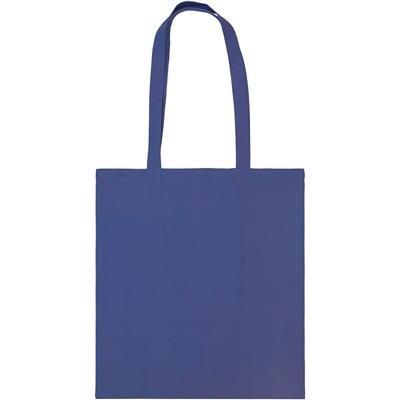 SNOWDOWN COTTON SHOPPER TOTE BAG in Royal Blue.