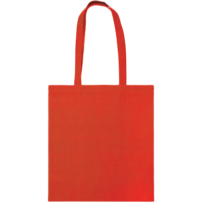 SNOWDOWN COTTON SHOPPER TOTE BAG in Red.