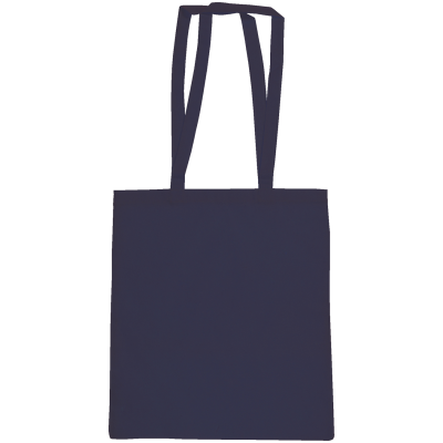 SNOWDOWN COTTON SHOPPER TOTE BAG in Navy Blue.
