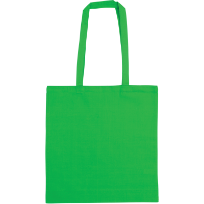 SNOWDOWN COTTON SHOPPER TOTE BAG in Green.