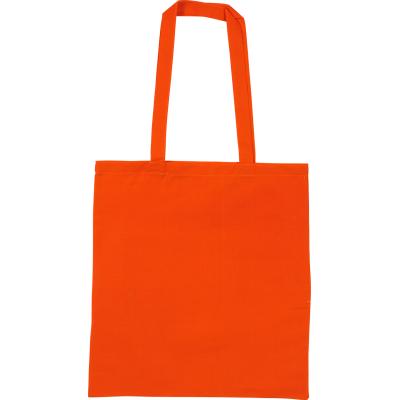SNOWDOWN COTTON SHOPPER TOTE BAG in Orange.
