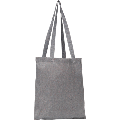 NEWCHURCH RECYCLED COTTON SHOPPER TOTE BAG in Grey.